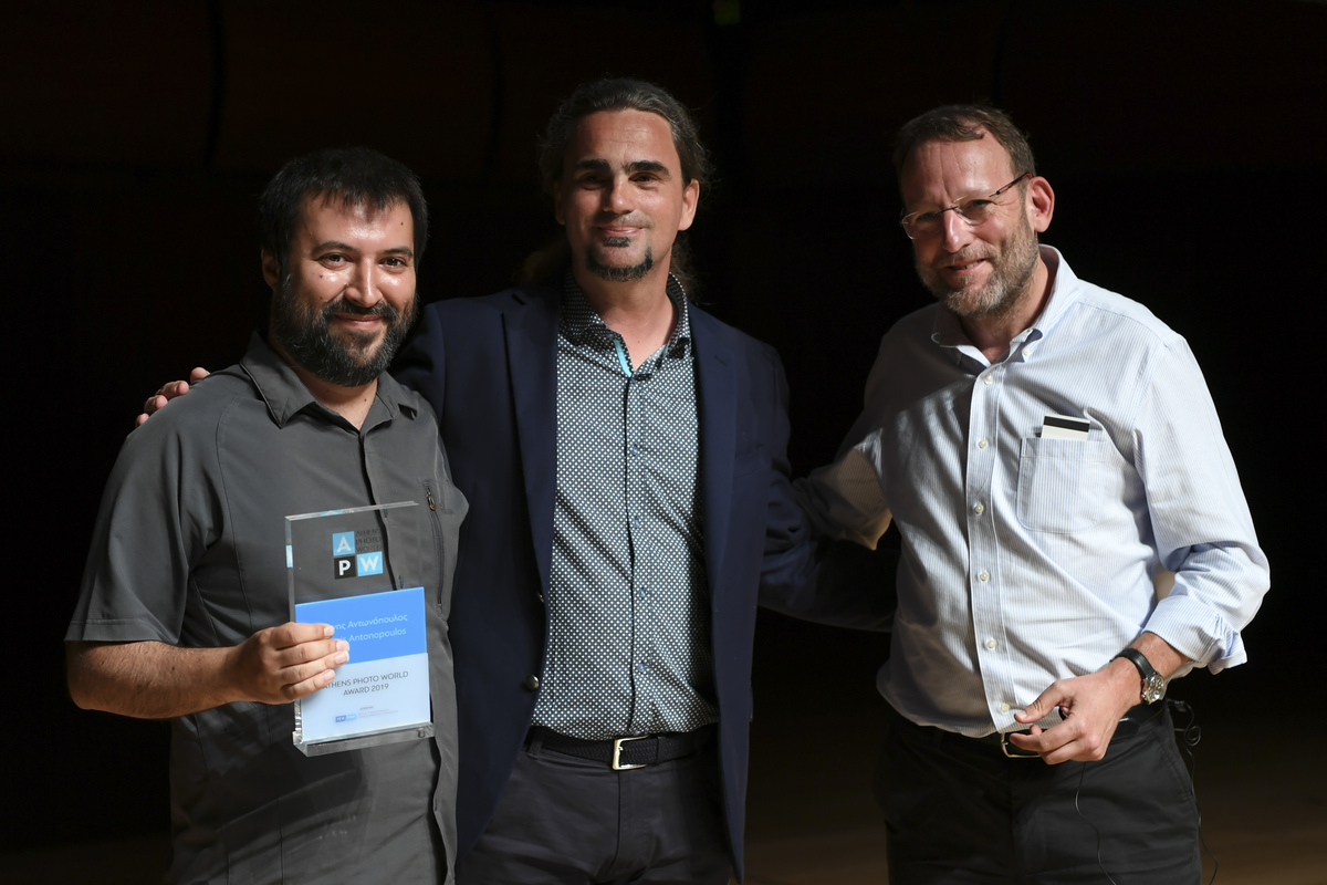Yiannis Antonopoulos, receiving the first APW award